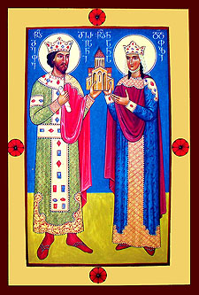 Equal of the Apostles, Empress Nana and Emperor Mirian of Georgia